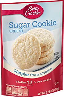 Betty Crocker Baking Mix, Sugar Cookie Mix, 6.25 Oz Pouch