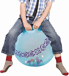 B. toys – Hop n' Glow – Light-Up Bouncy Ball with Handle - Hopper Ball for Kids 3 years+ (Air Pump Included)