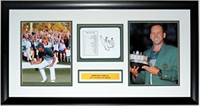 Sergio Garcia Signed Augusta Score Card & 2017 Masters 8x10 Photo Compilation - JSA COA Authenticated - Professionally Framed 32x16