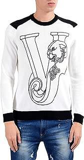 white versace sweater