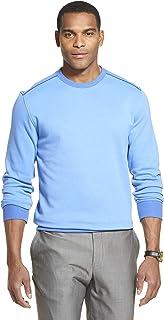 Van Heusen Men's Long Sleeve Flex Fleece Blocked Crewneck Pullover