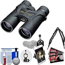 Nikon Prostaff 3S 10x42 Waterproof/Fogproof Binoculars with Case + Harness + Smartphone Adapter + Cleaning Kit
