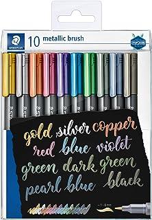 STAEDTLER 8321 TB10 metallic brush pens, wallet of 10 assorted colours