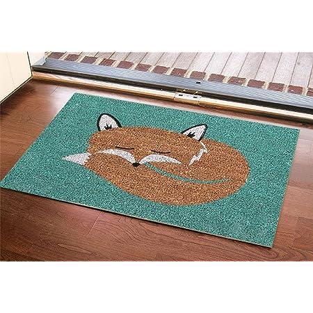 60 x 40cm Premier Houseware Fuchs Coir Fußmatte Slip Door Mat Floor Natural