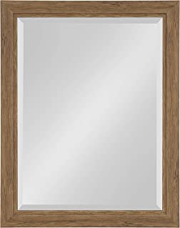 Kate and Laurel Dalat Framed Beveled Wall Mirror, 22x28, Midtone Brown