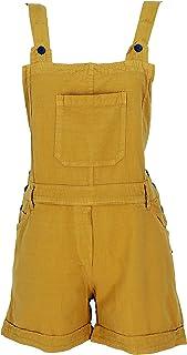 GURU-SHOP, Goa Shorts, Boho Dungarees - Petrol, Cotton, Shorts and 3/4 Trousers, Leggings