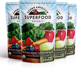 Sponsored Ad - Grown American Superfood 31 Organic Whole Fruits and Vegetables Concentrated Green Powder Increase Energy a...