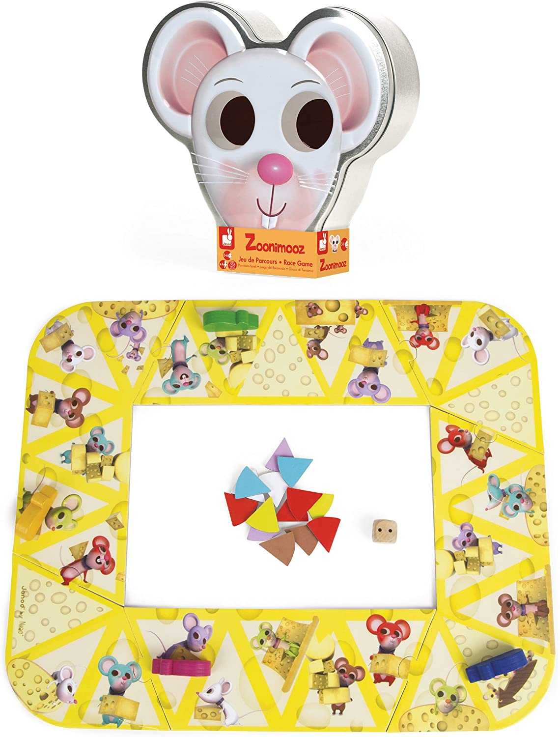 Janod Zoonimooz Mouse Action Tin Game, Mixed
