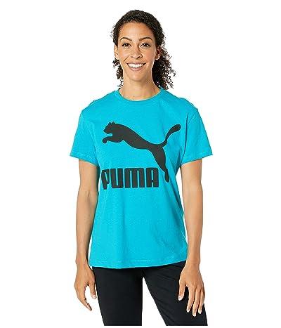 PUMA Classics Logo Tee (Caribbean Sea) Women