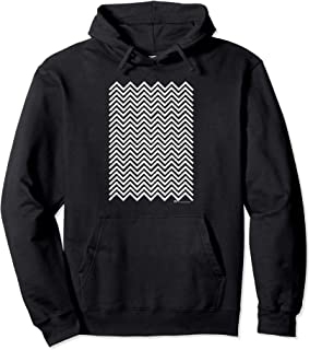 Twin Peaks Black and White Chevron Pullover Hoodie
