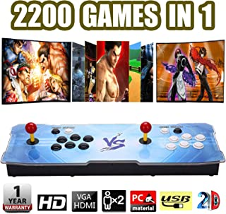 ZTPOWER 2200 in 1 Pandora Box 9s Retro Video Games - Double Arcade Joystick Games Console - 2D Arcade Video Game for 2 Players Built-in Speaker (Color 1, 2200 in 1)
