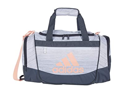 adidas Defender III Small Duffel (Green Tint/Jersey Grey/White/Grey) Duffel Bags
