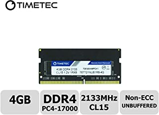 Timetec Hynix IC 4GB DDR4 2133MHz PC4-17000 Unbuffered Non-ECC 1.2V CL15 1Rx8 Single Rank 260 Pin SODIMM Portatil Memoria Principal Module Upgrade (4GB)
