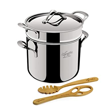 Lagostina Q55103 Pastaiola Stainless Steel Dishwasher Safe Oven Safe Pasta Stock Pot Cookware