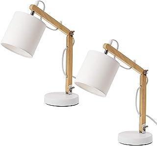 BRUBAKER - Lampe de bureau/de table/de chevet - Lot de 2 - Bras articulé réglable - Design moderne - Hauteur jusqu'à 52 cm...