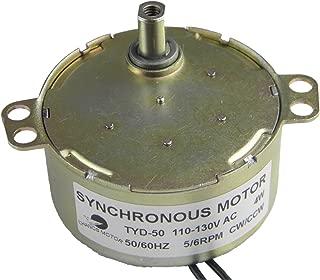 TYD-50 Synchronous AC Motor 110V 5-6RPM CW/CCW Rotation Torque 6Kg.cm Small Electric Gear Motor