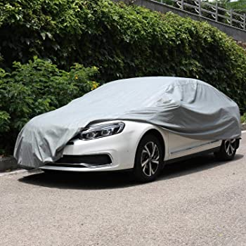All Weather Defender Full Vehicle Cover Outdoor Indoor Car Accessory Black//Silver Waterproof Car Tarpaulin with Storage Bag Car Cover Compatible with Mercedes-Benz GLA 250//GLA 250 4MATIC