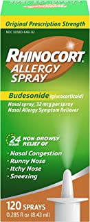 Best Rhinocort Allergy Nasal Spray With Budesonide Allergy Medicine, Non-Drowsy 24 Hour Relief, Prescription Strength Indoor And Outdoor Allergy Relief, Scent-Free And Alcohol-Free, 120 Sprays Review