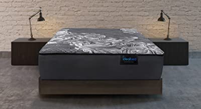 iDealBed Luxe Series iQ5 Hybrid Luxury Firm Mattress, Smart Adapt Hybrid Coil & Foam System for Optimal Temperature Regulation, Pressure Relief, and Support, Made in USA, 10 Year Warranty (King)