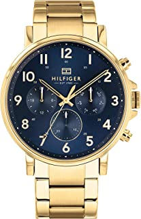 Tommy Hilfiger Men's Quartz Watch with Stainless Steel Strap, Gold, 12.6 (Model: 1710384)