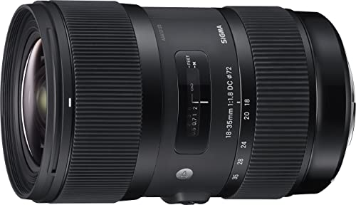 Sigma 4210954 18-35mm f/1.8 DC HSM Art Lens for Canon, Black