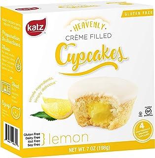 Katz Gluten Free Lemon Crème Filled Cupcakes   Dairy Free, Nut Free, Soy Free, Gluten Free   Kosher (1 Pack of 4 Crème Cupcakes, 7 Ounce)