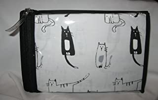 Set of 2 Standard Cynthia Rowley Black & White Sketched Cats Pillowcases