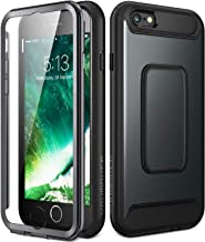 YOUMAKER Case for iPhone 6S, Full Body with Built-in Screen Protector Heavy Duty Protection Shockproof Case Cover for Apple iPhone 6S (2015) / 6 (2014) 4.7 inch - Black/Black