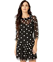 Rebecca Taylor - Long Sleeve Dot Embroidered Dress