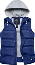 Wantdo Women's Quilted Padding Puffer Vest with Removable Hooded
