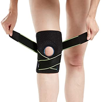 Knee Brace with Side Stabilizers & Patella Gel Pads for Knee Support
