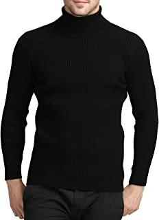 Mens Casual Wool Cashmere Knitted Sweater Long Sleeve Turtleneck Pullover Tops