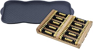 Superio Shoe and Boot Tray and Scrubber Brush Set.