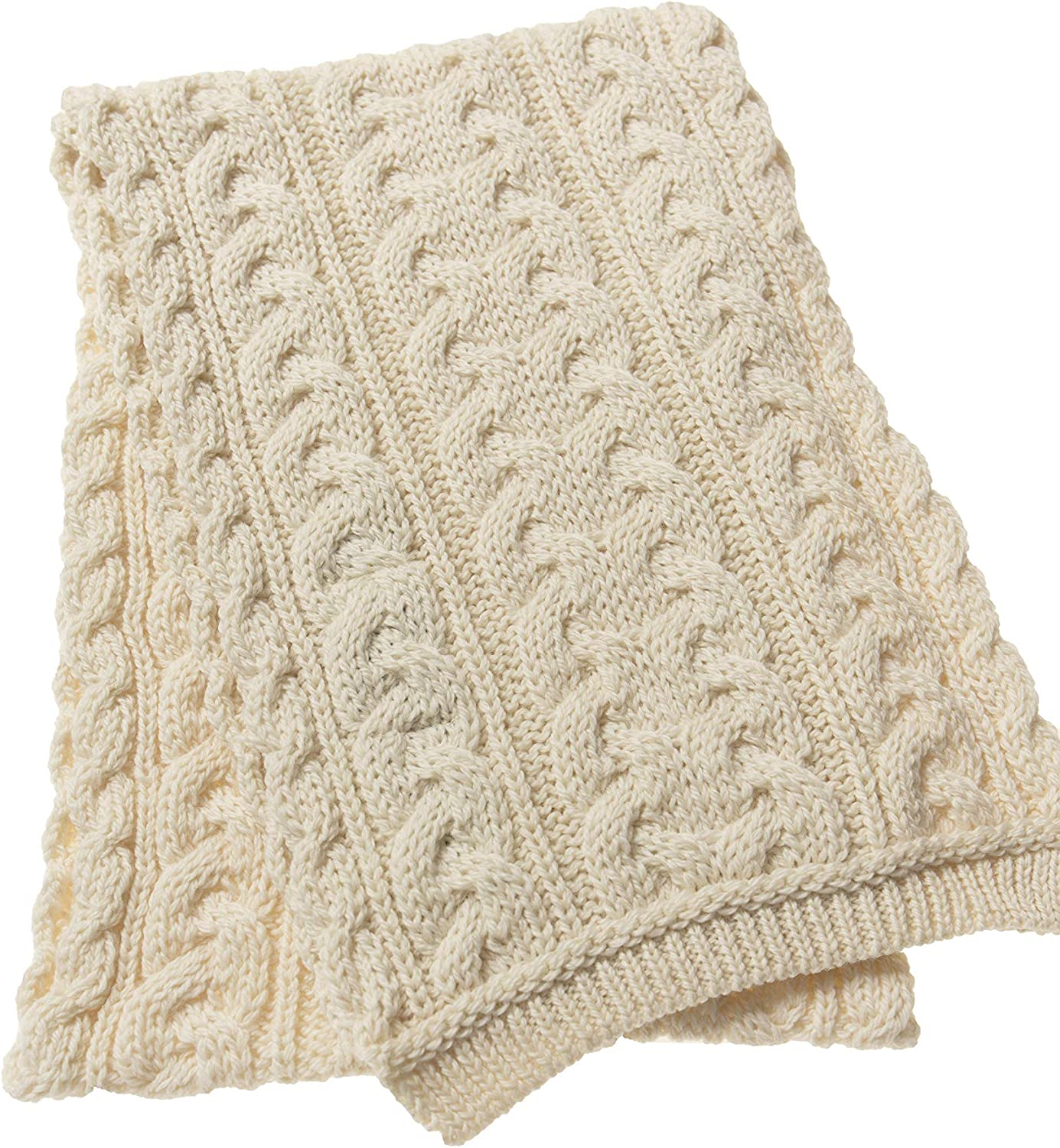 Aran Crafts Irish Cable Knitted Heavyweight Scarf 10