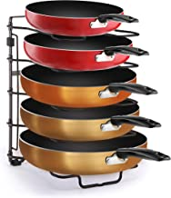 Simple Trending  Adjustable Pan and Pot  Lid Organizer Rack Holder, Kitchen Counter and Cabinet Organizer, Bronze