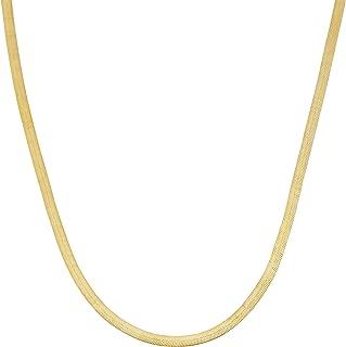 Kooljewelry 10k Yellow Gold 1.67 mm Herringbone Chain Necklace (18, 20, 22, 24, 30 or 36 inch)