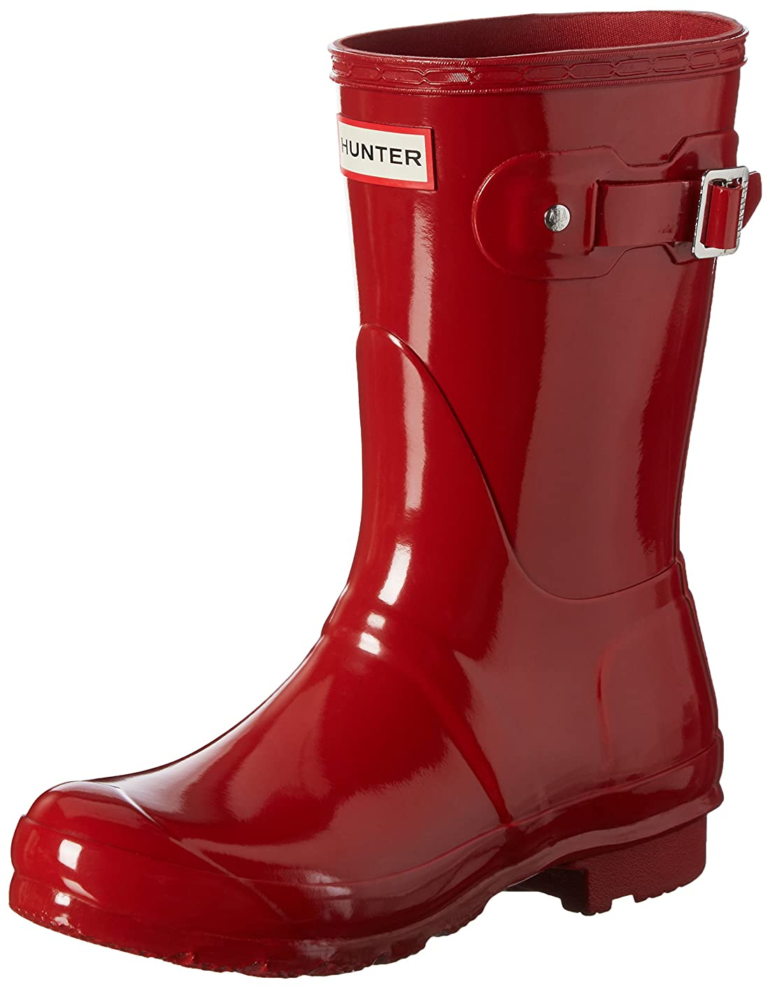 アレイスープ適合[ハンター] Women's Original Short Gloss Military Red Mid-Calf Rubber Rain Boot - 10M