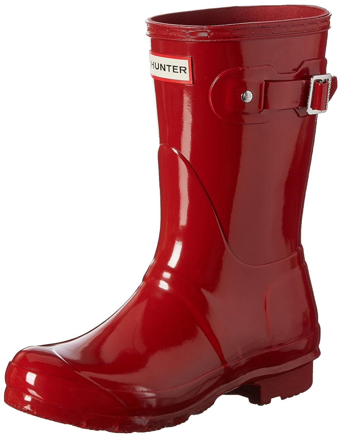 たぶんマチュピチュの配列[ハンター] Women's Original Short Gloss Military Red Mid-Calf Rubber Rain Boot - 10M