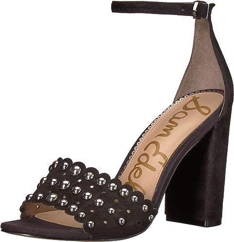 Sam Edelman damen& 039;s Yaria Heeled Heeled Heeled Sandal, schwarz Suede, 7 M US  Qualitätskontrolle