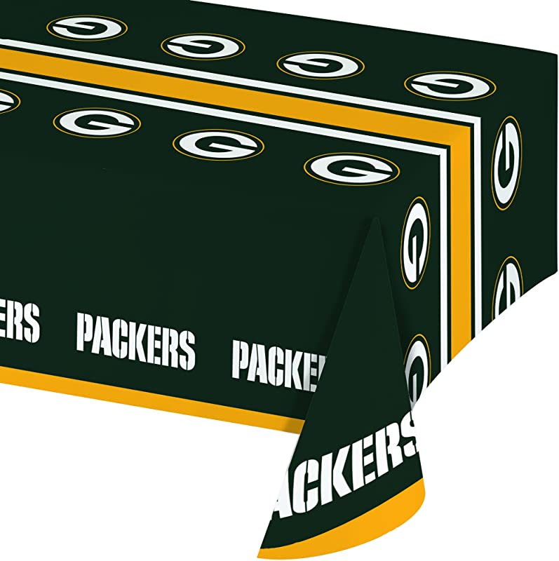 Creative Converting Officially Licensed NFL Plastic Table Cover 54x102 Green Bay Packers