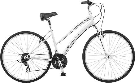 Schwinn Red 1.0700°C Bicicleta híbrida para Mujer 16, 16-Inch/pequeño, Blanco