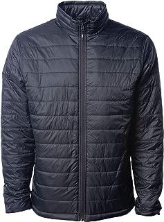 light before dark red pillow puffer jacket