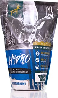 Redmond Hydro All-Natural Mineral and Electrolyte Additive for Deer Watering Systems, from The Makers of Trophy Rock, Attract Deer and Big Game