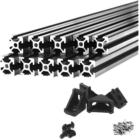 PovKeever 100mm 2020 T-Slot Aluminum Extrusions Aluminum Profiles Frame 3D Printer Case Aluminum Profile Plasma Cutters Robotics-Light/ï/¼/ŒSilver