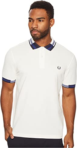 Block Tipped Pique Polo Shirt