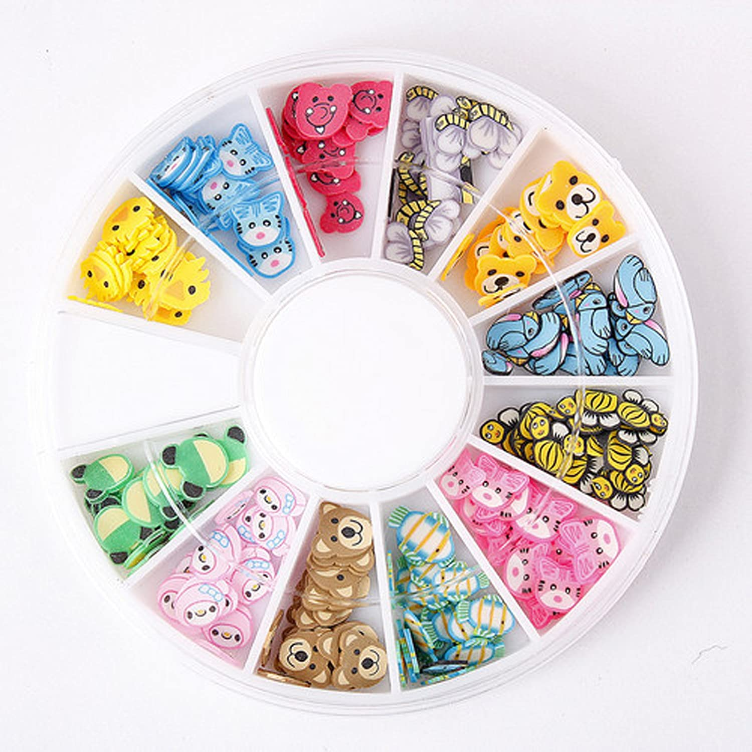 Online limited product 3D Fimo Clay Slice Animal Nail Art Decorating Acrylic Denver Mall Wh Tips Uv