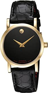 Women's Swiss-Automatic Watch with Leather-Alligator Strap, Black, 15 (Model: 0607010)