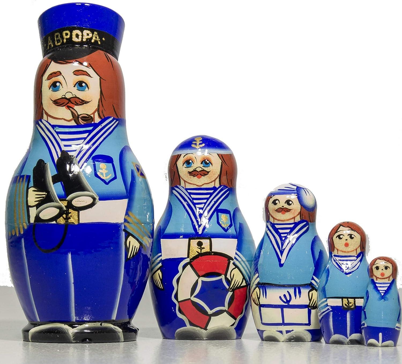 Cossack Special Design Gift Dolls Hand Painted in Russia Russian Nesting Doll Handmade Design Medium Size Traditional Matryoshka Babushka