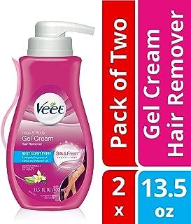 Veet Leg & Body Gel Hair Removal Cream- Sensitive Formula With Aloe Vera & Vitamin E, Keeps Skin Hydrated, Vanilla & Passion Fruit Scented,13.5 oz. (Pack of 2)