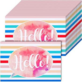 Amazon Com 60 Pieces Valentine S Day Watercolor Hello Blank Postcards Thinking Of You School Postcards Colorful Cute Postcards Accessories For Teachers Students Showing Love Encouragement And Support Office Products